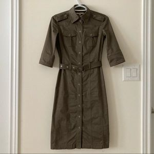 RW & Co Button Down Army Dress with Belt Size 00